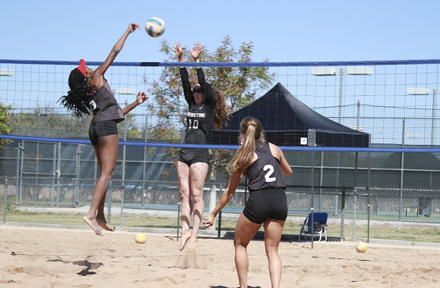 Photo for Beach volleyball makes strides in loss to NCAA D1 Nebraska