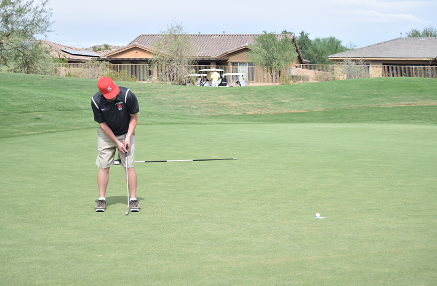 Photo for Men's golf wins first meet ever in home match over Carthage, Carleton